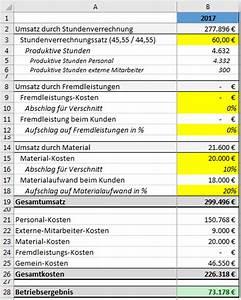 Personalkosten Berechnen Formel : so geht stundenverrechnungssatz kalkulation ~ Themetempest.com Abrechnung