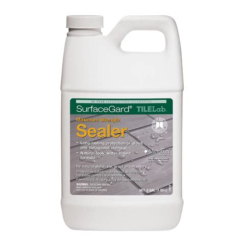 tilelab grout and tile sealer custom building products tilelab surfacegard 1 2 gal