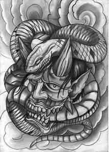 Demon Japonais Dessin : peinture slay masque jap ~ Maxctalentgroup.com Avis de Voitures