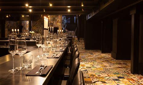 dark basement   flamboyant restaurant