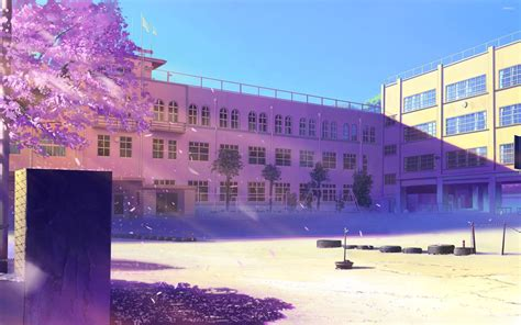 School Anime Wallpaper - empty schoolyard wallpaper anime wallpapers 30653