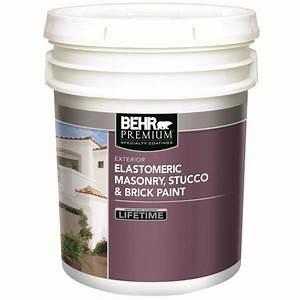 Behr BEHR Elastomeric Masonry, Stucco & Brick Paint, White ...