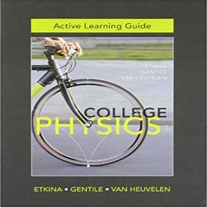 Active Learning Guide 1st Edition By Etkina Gentile
