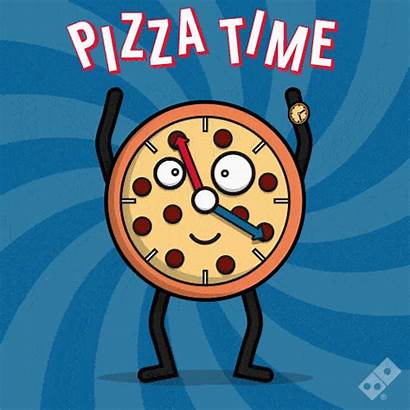 Smile Pizza Animated Dominos Clock Waving Domino