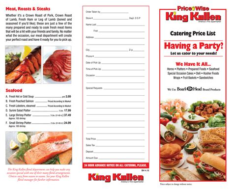 King Kullen Catering & Party Platters | Long Island (NY)