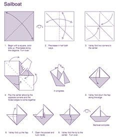 Origami Boat Written Instructions by Darbarella Upcycled Paper Bows And Sailboats Al S Stuff