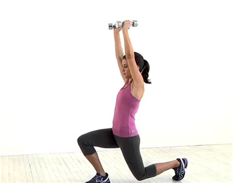 overhead lunge walking dumbbell fitpass