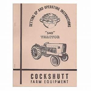 Operators Manual Reprint  540 Rep2977