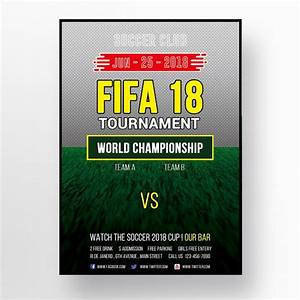 2018 Fifa World Cup Flyer Template For Free Download On
