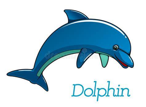 Cute Cartoon Dolphin Character Stock Vector