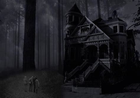 Background Haunted House by Haunted House Background Free Photoshop Brushes At