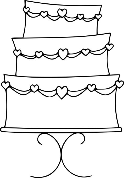 wedding cake color pages  printable