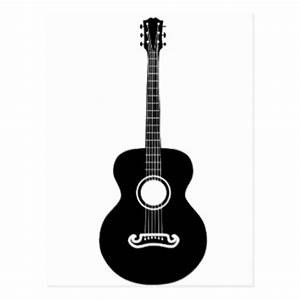 Guitar Silhouette Postcards | Zazzle