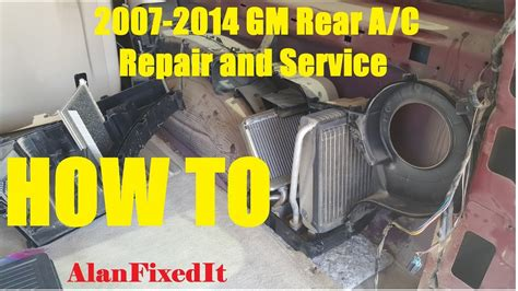 gm rear ac repair  service expansion valve