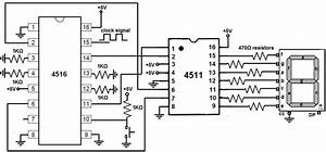 how to build a 4516 binary up down counter circuit With the circuit diagram of a seven segment counter based on the counter ic