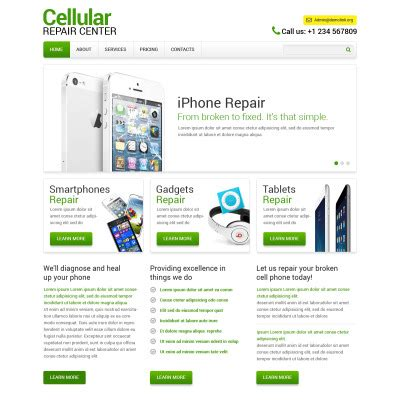 Computer Repair Web Template Free by Computer Repair Website Templates