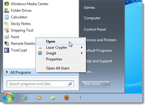 How to Reorganize the All Programs Section on the Windows 7 Start Menu