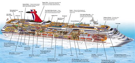 Carnival Fascination Deck Plan 2012 by Carnival Fascination Cruise Ship