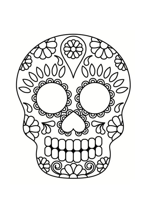 dessin tete de mort mexicaine coloriage t 234 te de mort mexicaine 20 dessins imprimables coloriage t 234 te de mort coloriage