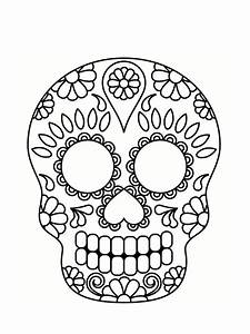 Dessin Tete De Mort Avec Rose : coloriage t te de mort mexicaine 20 dessins imprimer imprimables coloriage coloriage ~ Melissatoandfro.com Idées de Décoration