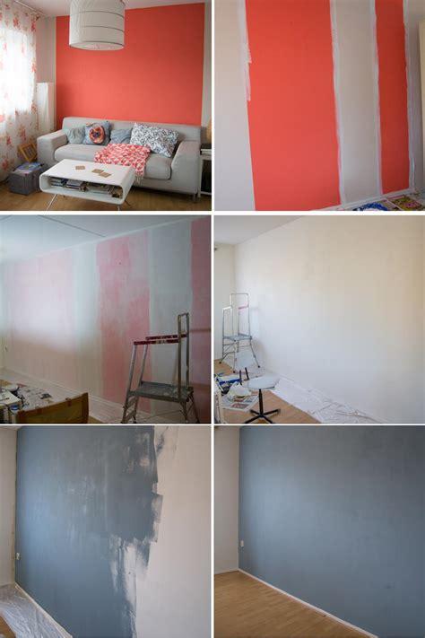 Wand überstreichen by Wohnzimmer Makeover Mit Wandfarbe