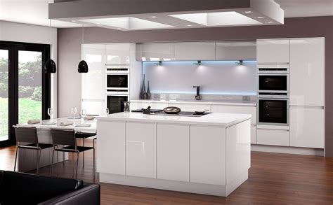 white gloss kitchen designs horizon gloss white kitchen fitted traditional kitchens 1314