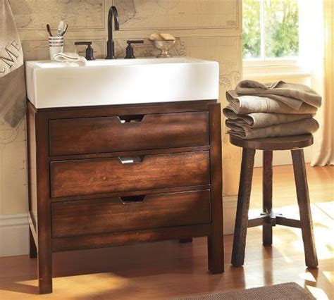 farmhouse style sink storage bunk room bath