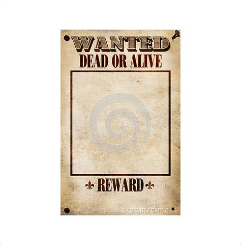 blank wanted poster templates  printable sample