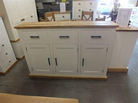 Narrow Sideboard by Shabby Painted Large 3 Door Narrow Sideboard F B Pointing