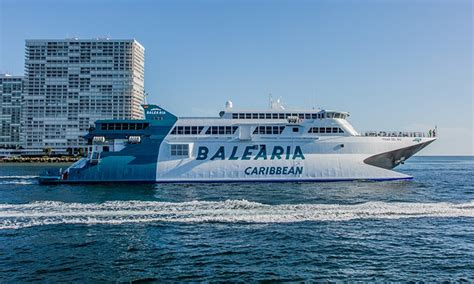 Fast Boat Miami To Bahamas by Round Trip Bahamas Ferry Balearia Caribbean Groupon