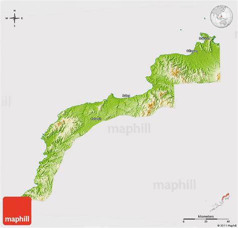 physical  map  zamboanga del norte cropped