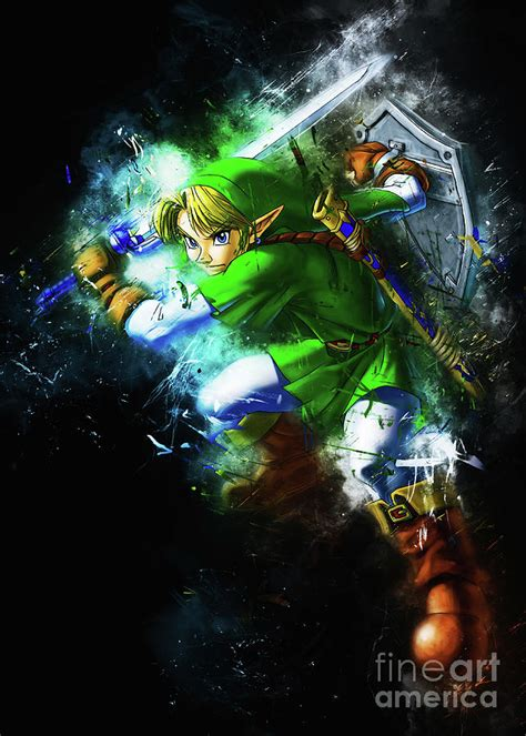 Frequent special offers and discounts up to 70% off for all products! Link The Ocarina of Time Digital Art by Long Art