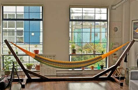 How To Make Your Own Hammock Stand by How To Hammock Indoors Serac Hammocks