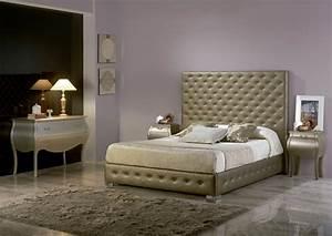 acheter votre lit capitonne dore avec lit coffre chez simeuble With canape d angle exterieur 7 acheter votre tete de lit contemporain capitonne en pvc