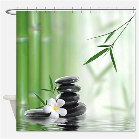 Zen Shower Curtains  Zen Fabric Shower Curtain Liner