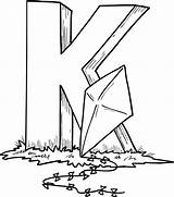 Coloring Pages Kite Kites Printable sketch template