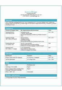 Tables CV template free MS Word How to write a CV