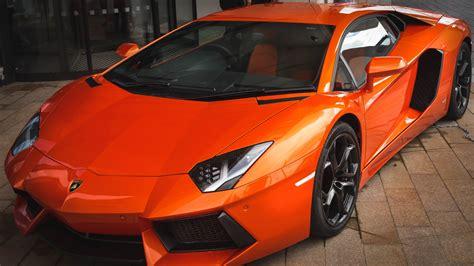 Car Wallpaper Orang by Orange Lamborghini Sports Car 4k Laptop Wallpaper 4k