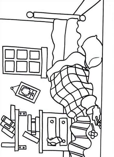 Bedroom Coloring Pages  Coloring Home