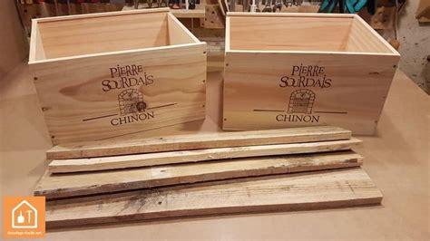 cuisine en palette bois fabriquer un rangement à partir de caisses en bois diy