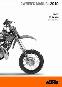 Ktm 50sx  U0026 50sx Mini Owner U0026 39 S Manual Pdf 2010