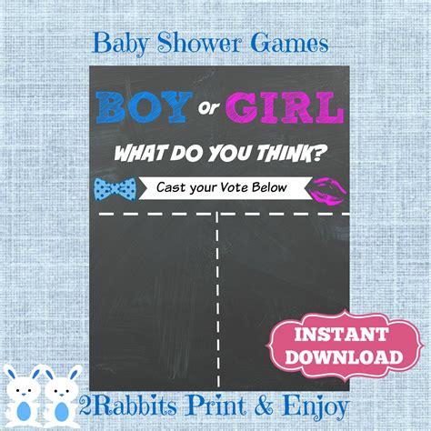 Gender Reveal Baby Shower Games Printable