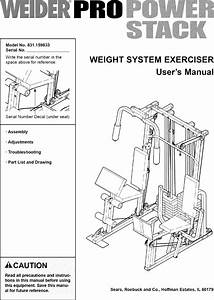 Weider 831159833 User Manual Pro Power Stack Manuals And