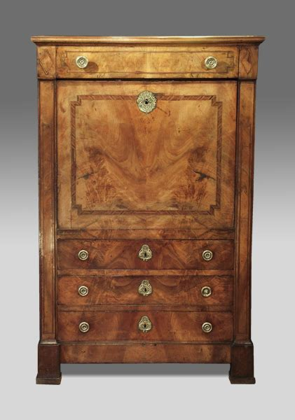 Antique Escritoire, secretaire a abattant, walnut