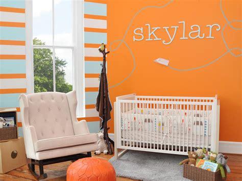 orange bedroom  hgtv