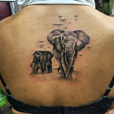 elephant family tattoo yesterdays tattoo  super fun