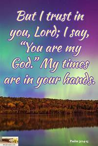 psalm 31 14 15 but i trust in you lord i say you are