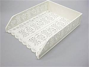 4 pack stackable letter tray desk office file document for Decorative stacking letter trays