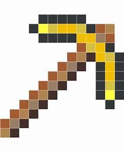 Minecraft gold pickaxe - Wall Decals - Stickaz