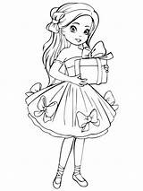 Coloring Pages Dolls Doll Printable Recommended sketch template